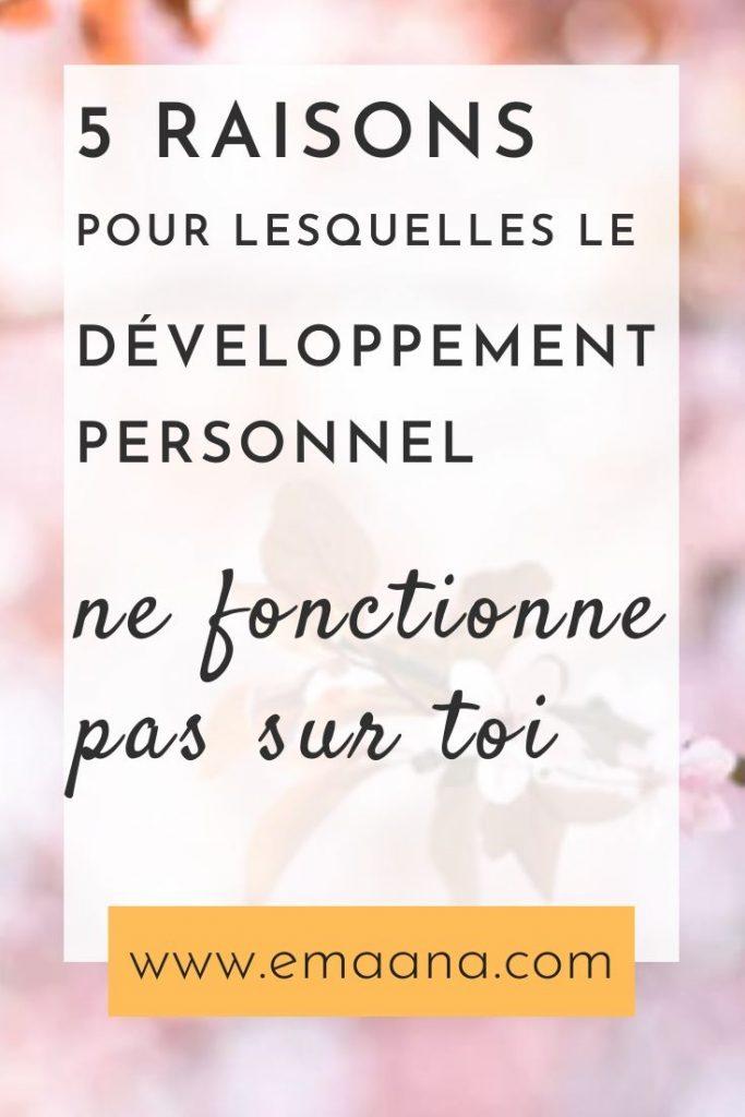 développement personnel et toi