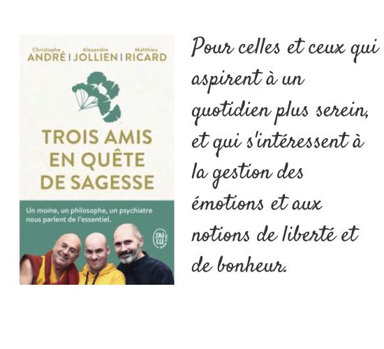 Livres 3 - Trois amis en quête de sagesse