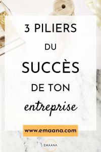 Read more about the article 3 piliers du succès de ton entreprise
